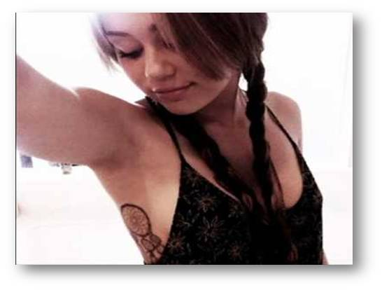miley cyrus tattoo.  miley cyrus tattoos and piercings