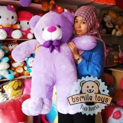 jual boneka lucu bear ungu