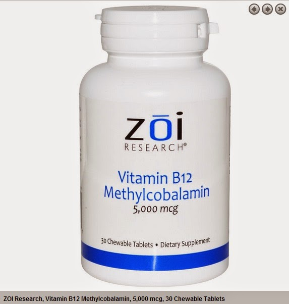 ZOI Research, Vitamin B12 Methylcobalamin, 5,000 mcg, 30 Chewable Tablets
