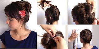 Cara Membut Model Rambut Cepol