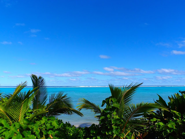 sea view from Charlie's on Rarotonga