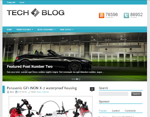 TechBlog Blogger Theme