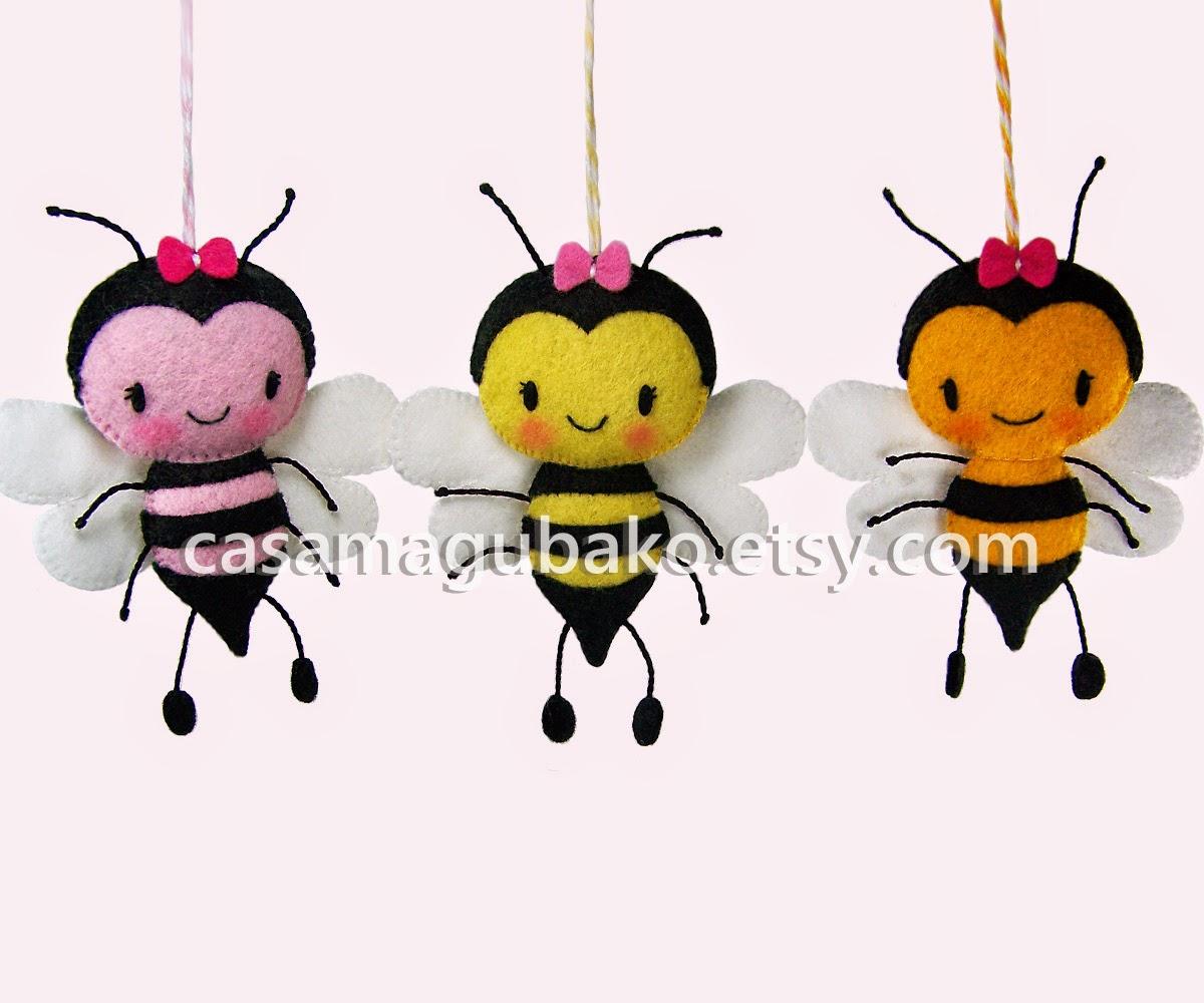 Felt Bees by casamagubako.com
