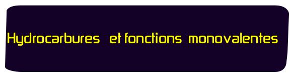 Hydrocarbures et fonctions monovalentes smc s4