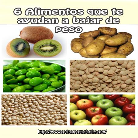 6 alimentos que te ayudan a bajar de peso - Cocina Recetas