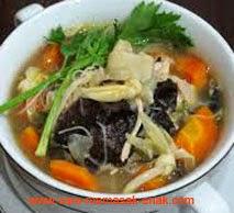 resep praktis dan mudah memasak sayur sup kimlo spesial sedap, enak, lezat