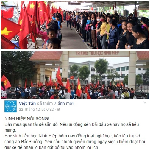 """Đám dân chủ giả cầy lợi dụng vụ Ninh Hiệp để """"đục nước béo cò"""""""