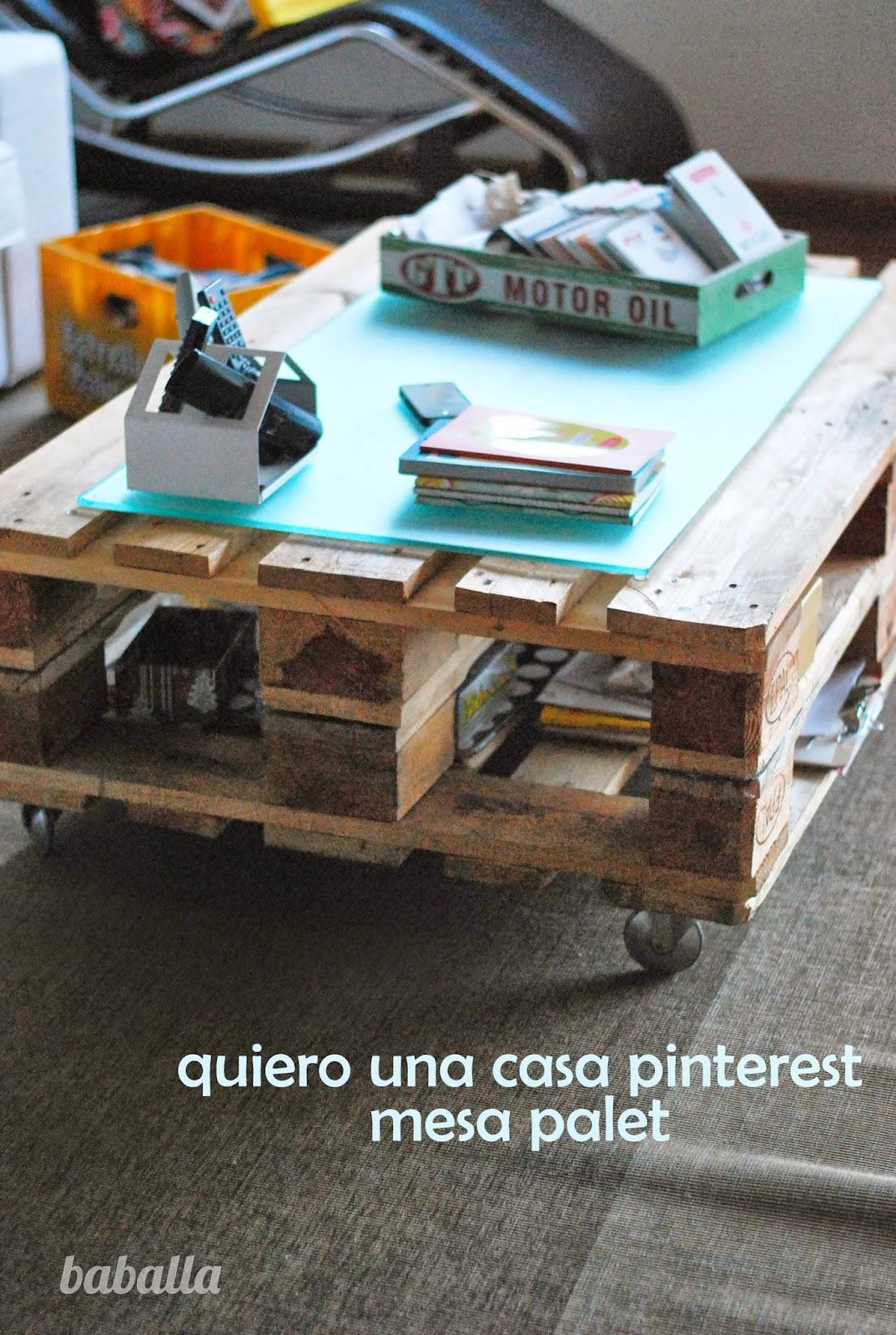 Mi nueva mesa de centro de palets europeos - Tamano palet europeo ...