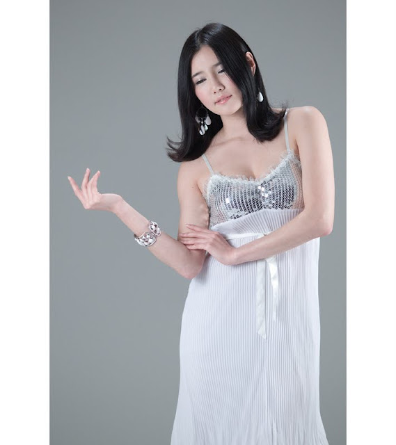 Han Ga Eun - Beautiful in Metalic Dress