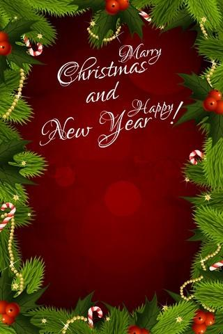 free online greeting card wallpapers christmas  new year's, Greeting card