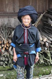 An old Dzao woman in Tả Phìn village, Sìn Hồ