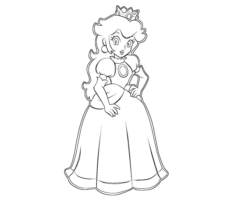 princess peach coloring pages - photo#29