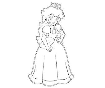 #1 Princess Peach Coloring Page