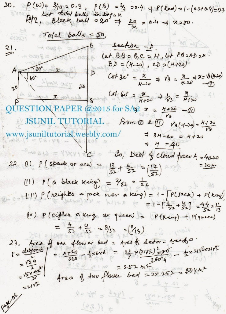 10th Maths Question Papers