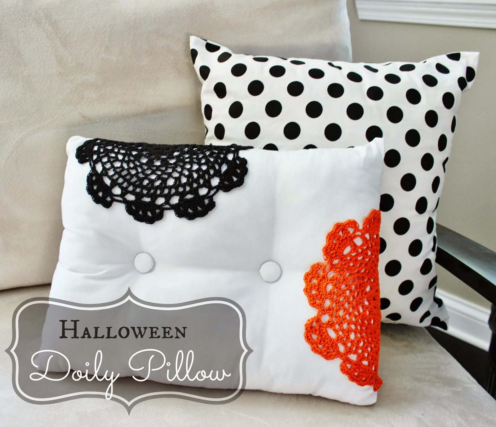 Diy Decorative Christmas Pillows : Holiday Decor: DIY Halloween Doily Pillow Delightfully Noted