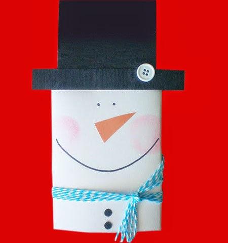 Малък пакет опаковка за дребен подарък като Снежен човек