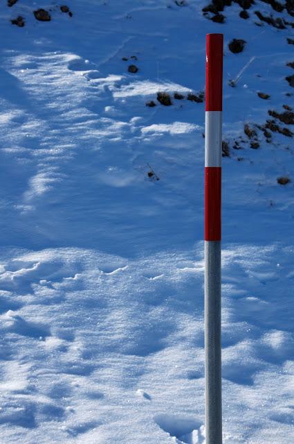 Foto en la nieve subespuesta