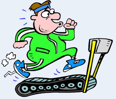 springa på löpband