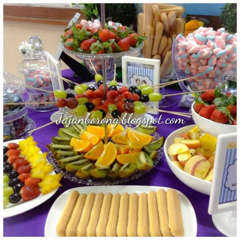 Fruit Buffet with Choc Fountain