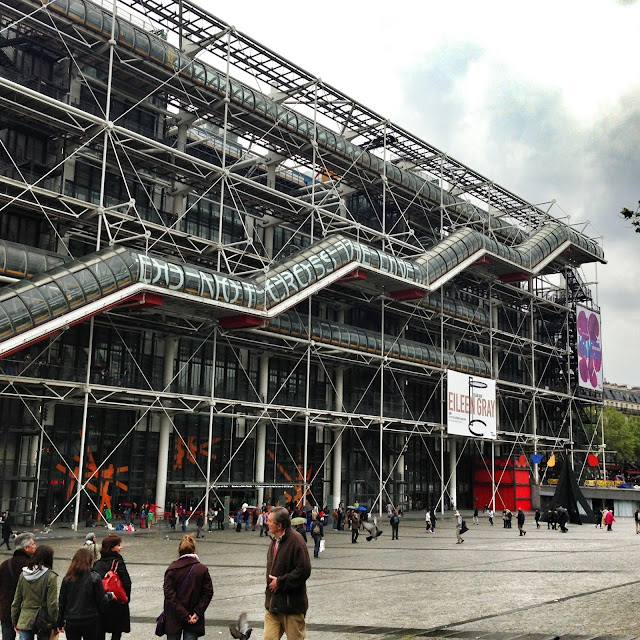 The outside of the Pompidou Center Paris France