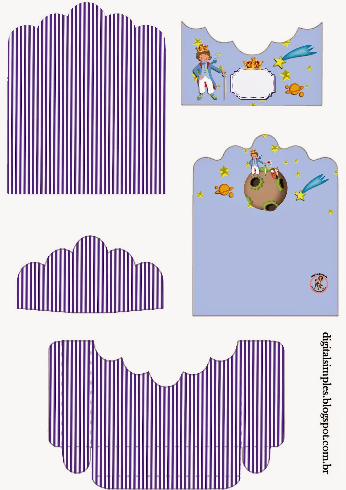 The Little Prince Free Printable Candy Package Support.