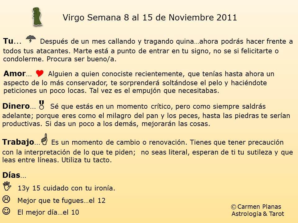 virgo horoscopo semanal: