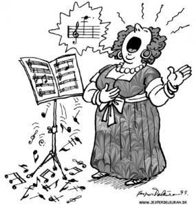Bernyanyi, Musik, Opera