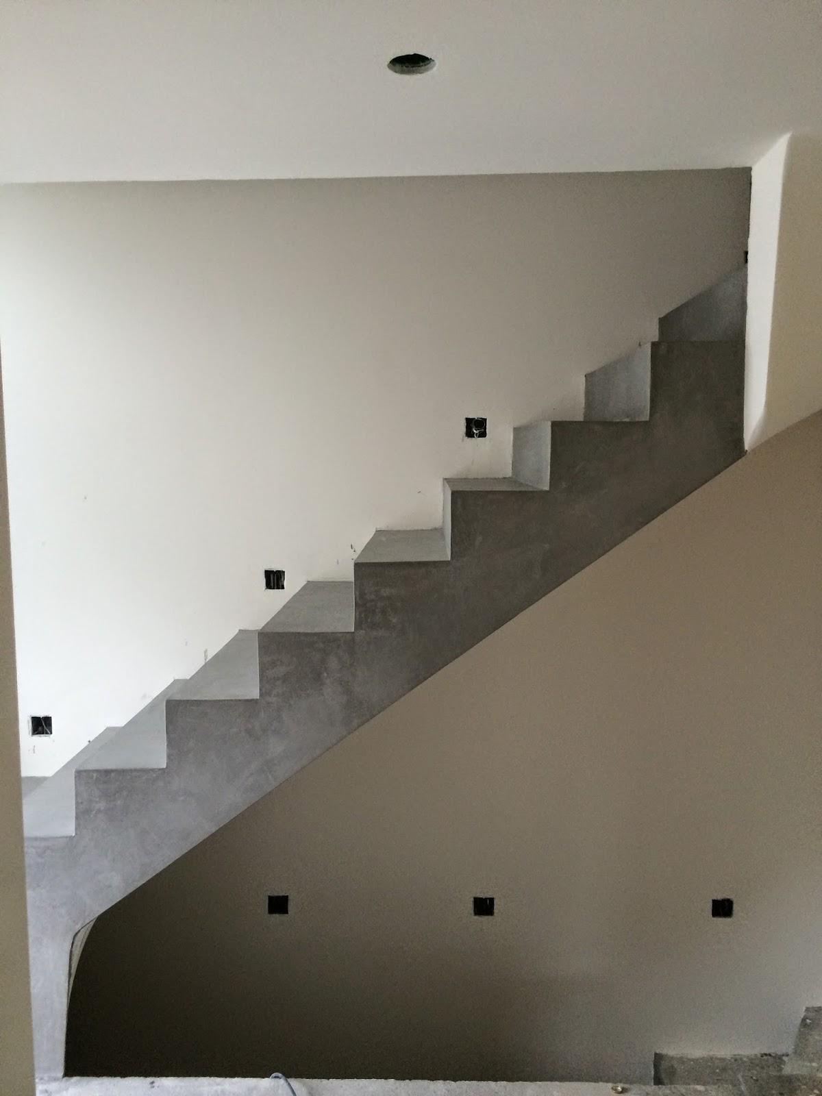 Betontreppe beschichten Beton Cire Besser Bauen