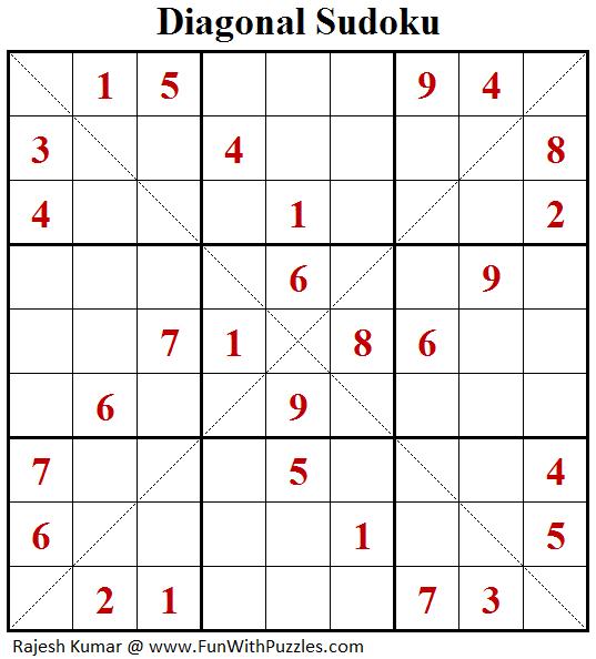 Diagonal Sudoku (Fun With Sudoku #122)