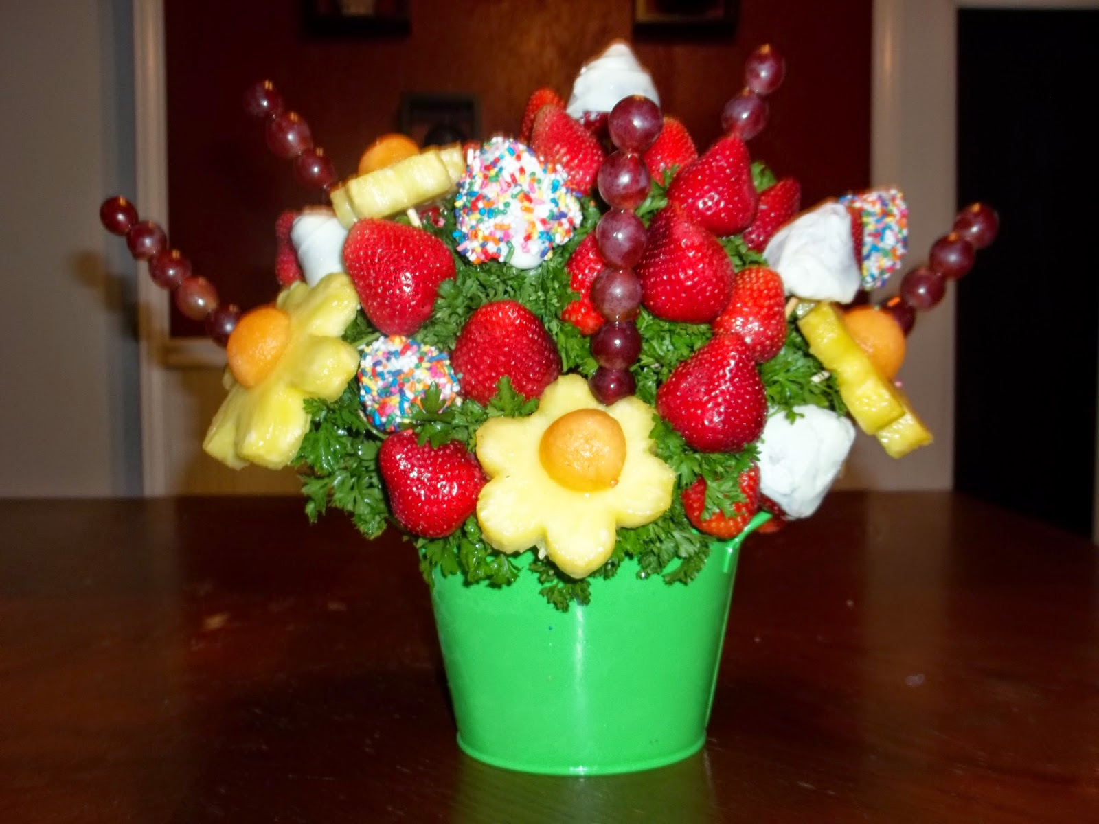 Jaime of all trades diy edible fruit flower bouquet Fruit bouquet