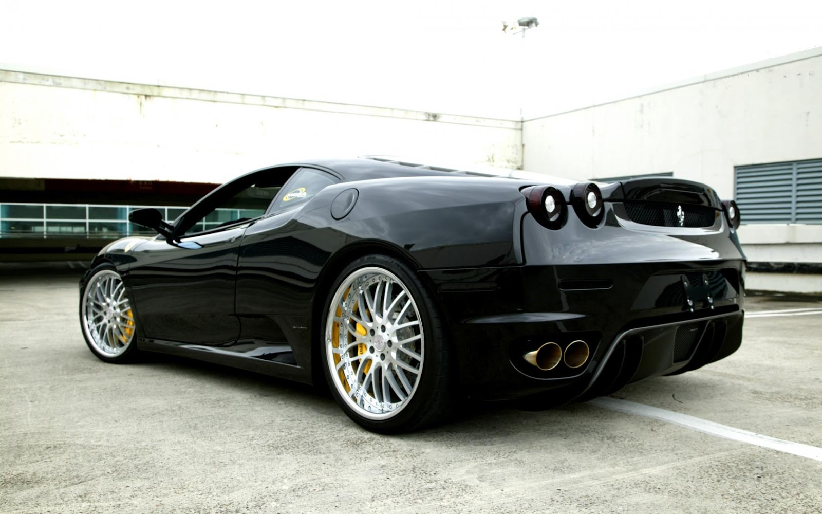 HD Car Wallpapers: Ferrari Car Models In Black Picture