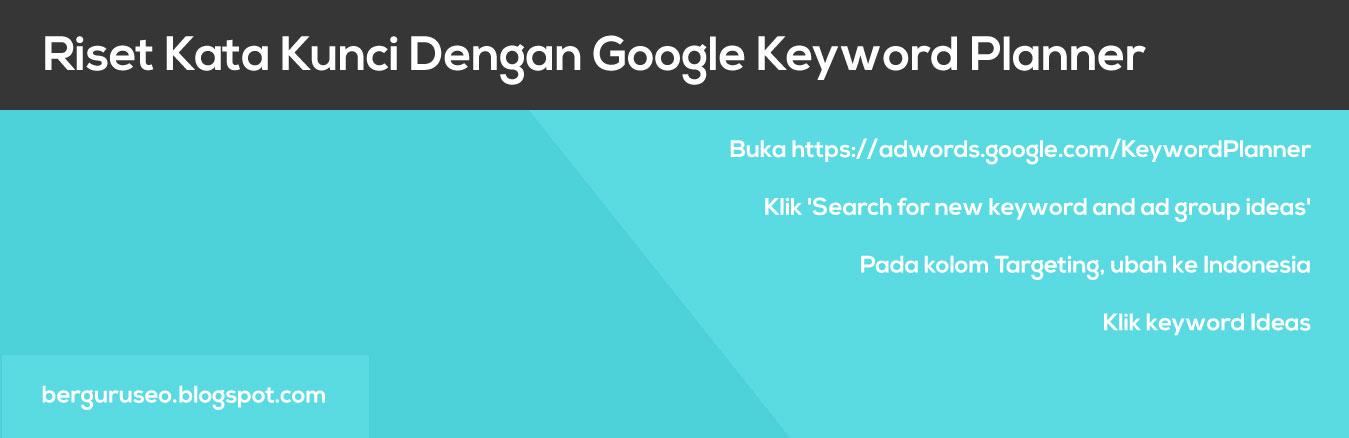Cara Riset Kata Kunci Dengan Google Adwords Keyword Planner
