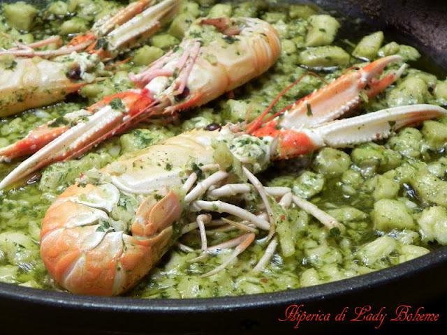 hiperica_lady_boheme_blog_di_cucina_ricette_gustose_facili_veloci_risotto_con_scampi_e_pesce_persico