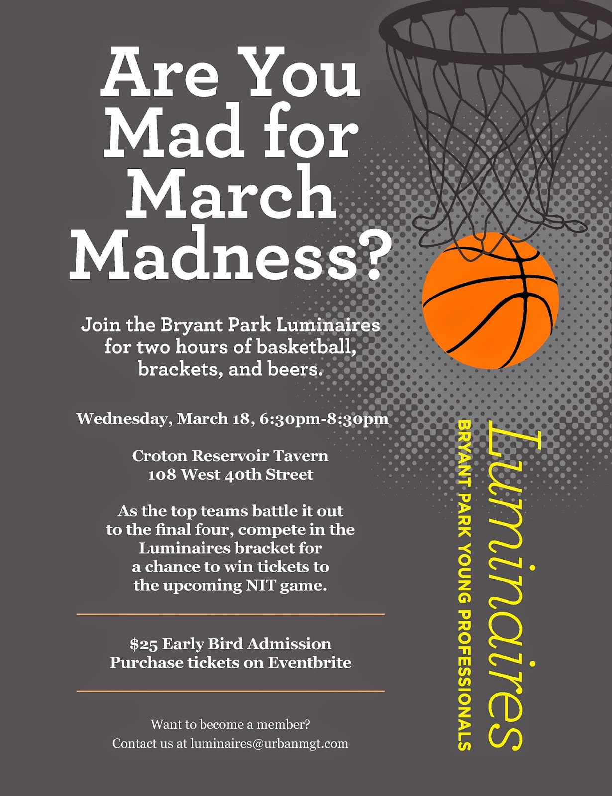 Bryant Park Blog: Are You Mad for March Madness?