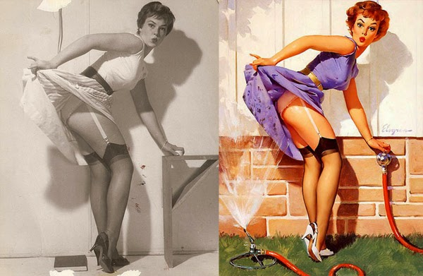 pin up girls, vintage pinup girls, iconic paintings