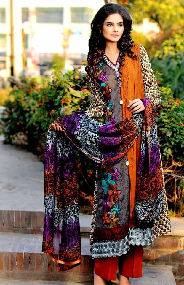 SalamsTextileSummerLawn2014 wwwfashionhuntworldblogspotcom 06 - Salam's Textile Spring-Summer Lawn Collection 2014