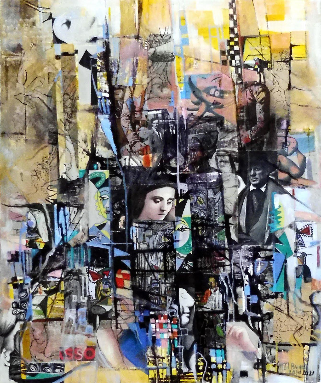 Hommage à Picasso - 46 x 55 cm - 2020