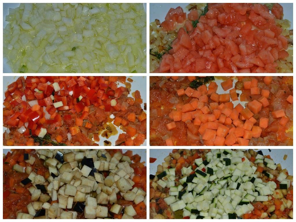 paso a paso elaboración pisto de verduras