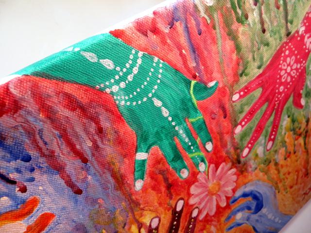 Holi Indian Festival Acrylic Painting