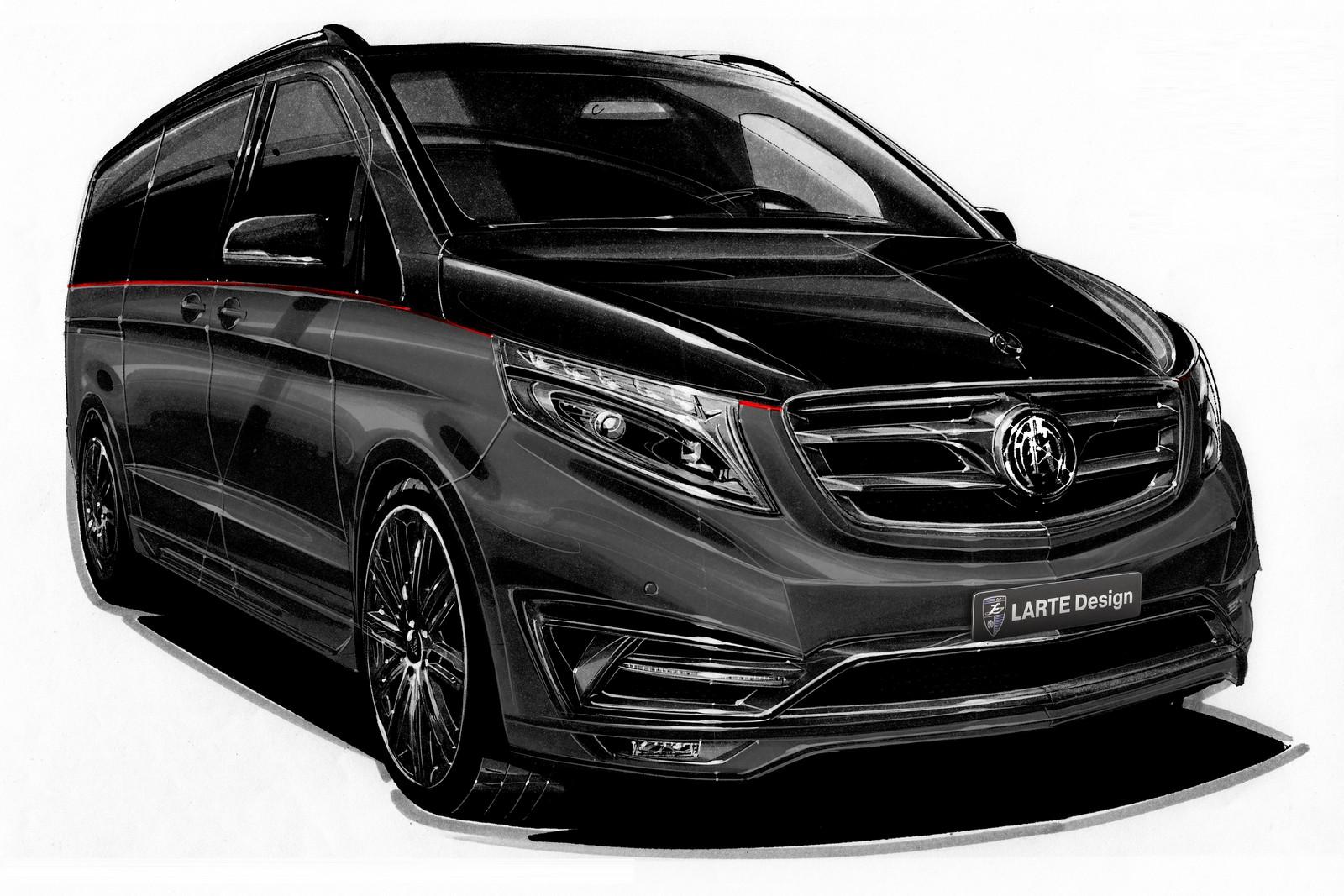 Mercedes v class gets full treatment from carlex design - Larte Design Unveils Mercedes V Class Black Crystal For Geneva