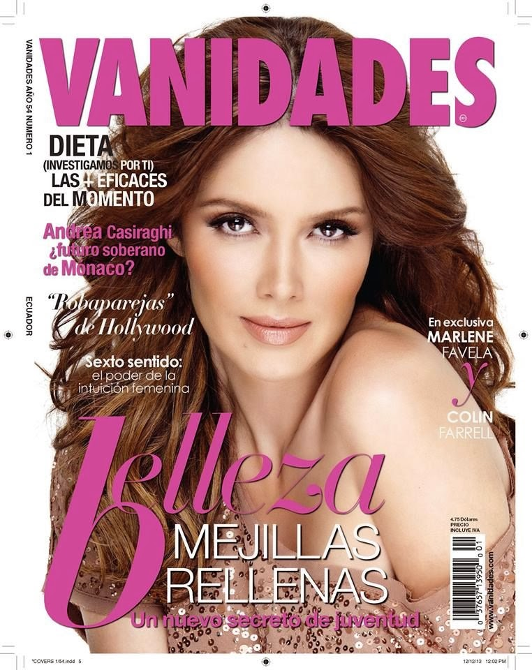Magazine Cover : Marlene Favela Magazine Photoshoot Pics on Vanidades Magazine Ecuador January 2014 Issue