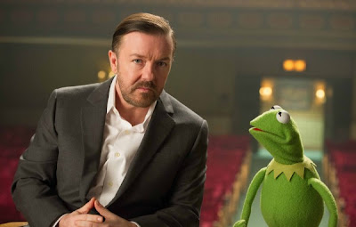 Ricky Gervais Kermit Muppets Most Wanted