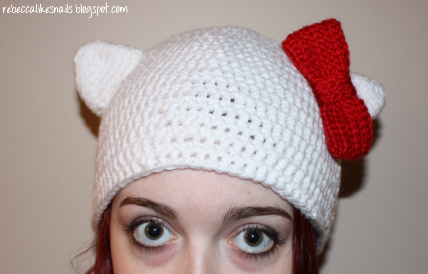 Crochet Kitty Hat Pattern : Hello Kitty Hats With Ears Hello Kitty Forever