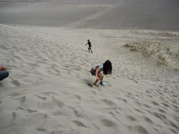 sandboarding at Paoay Sand Dunes