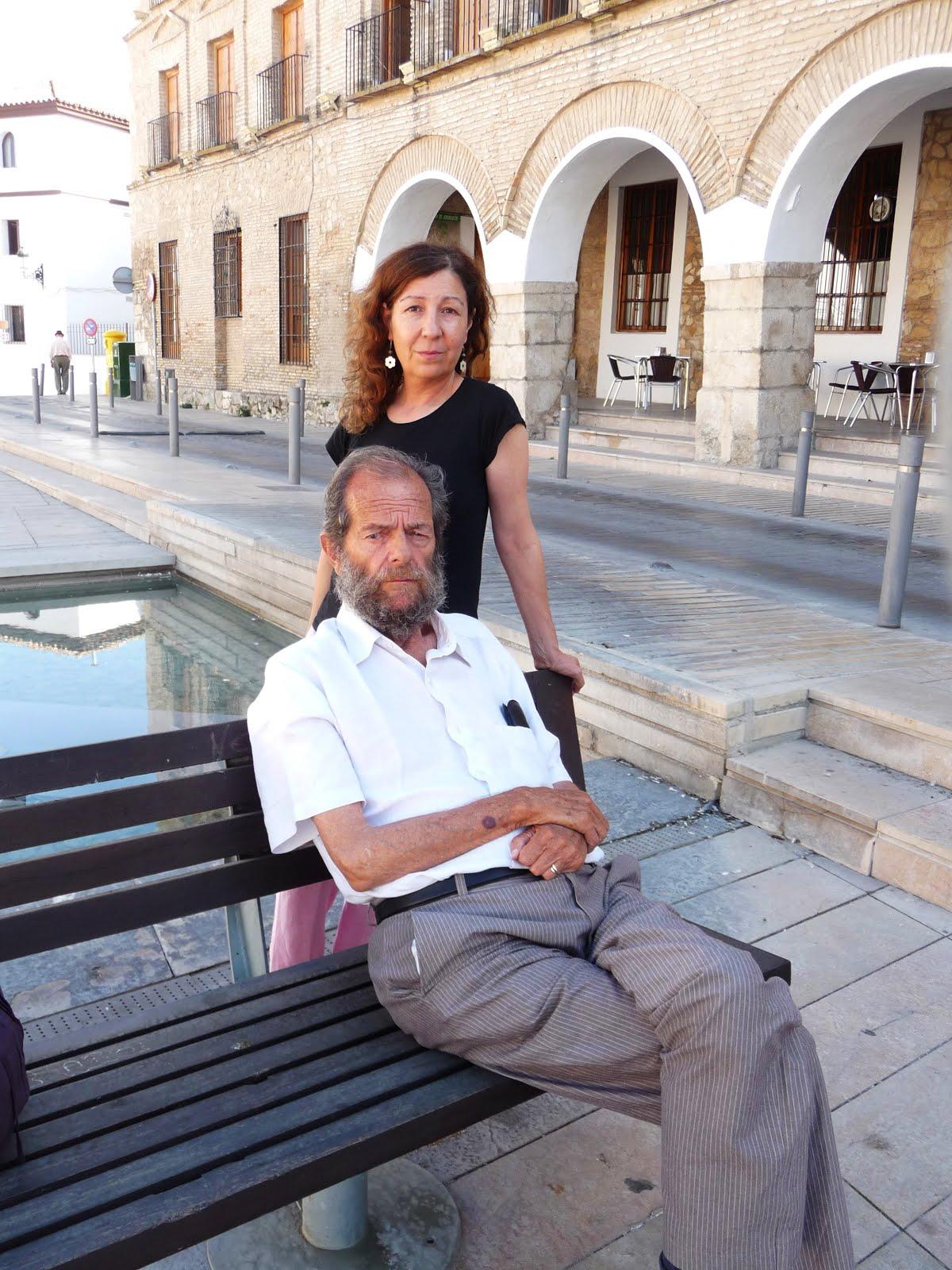 Con Federico González en Baena. Córdoba.
