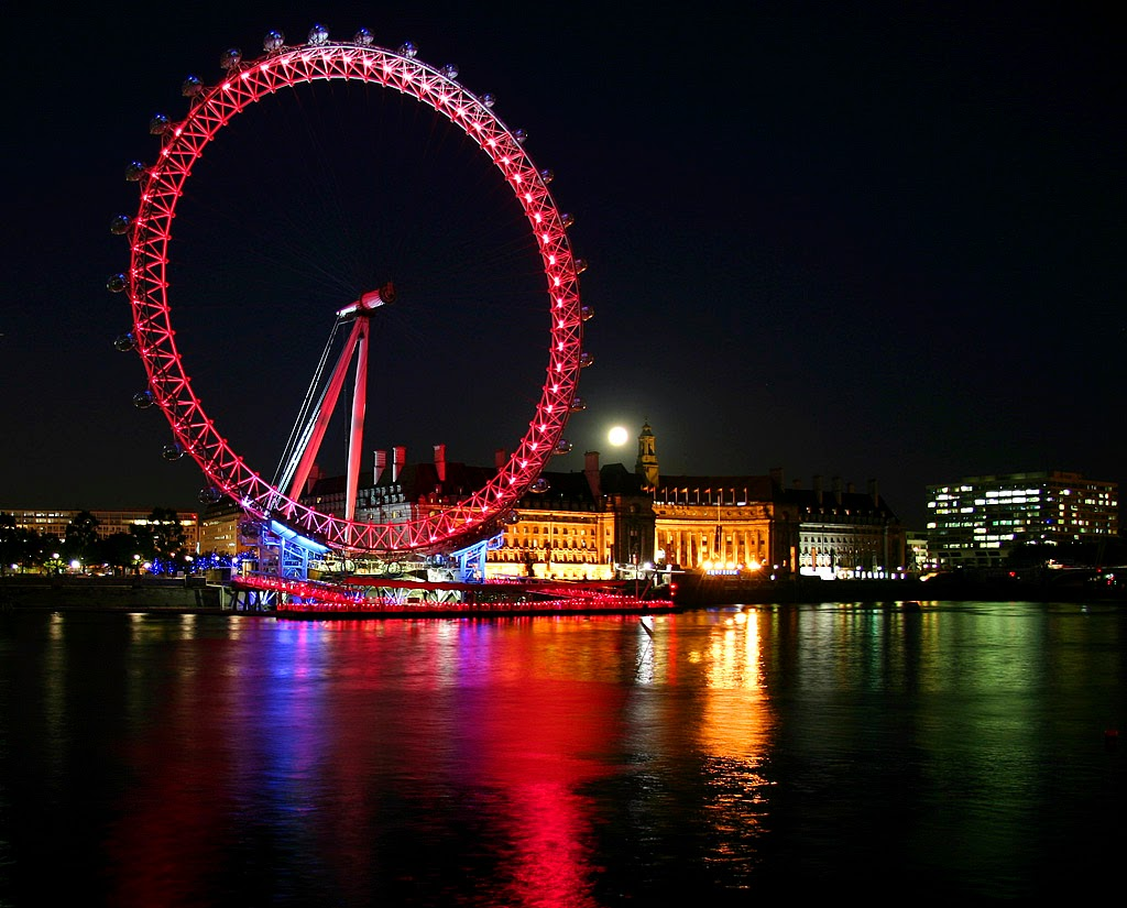 world visits: christmas season - london eye wallpaper