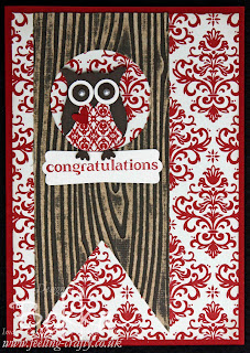 Adorable Owl Congratulations Card by Bekka - you can get all your Stampin' Up! supplies from her at www.feeling-crafty.co.uk