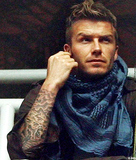 David Beckham tattoos David Beckham tattoos