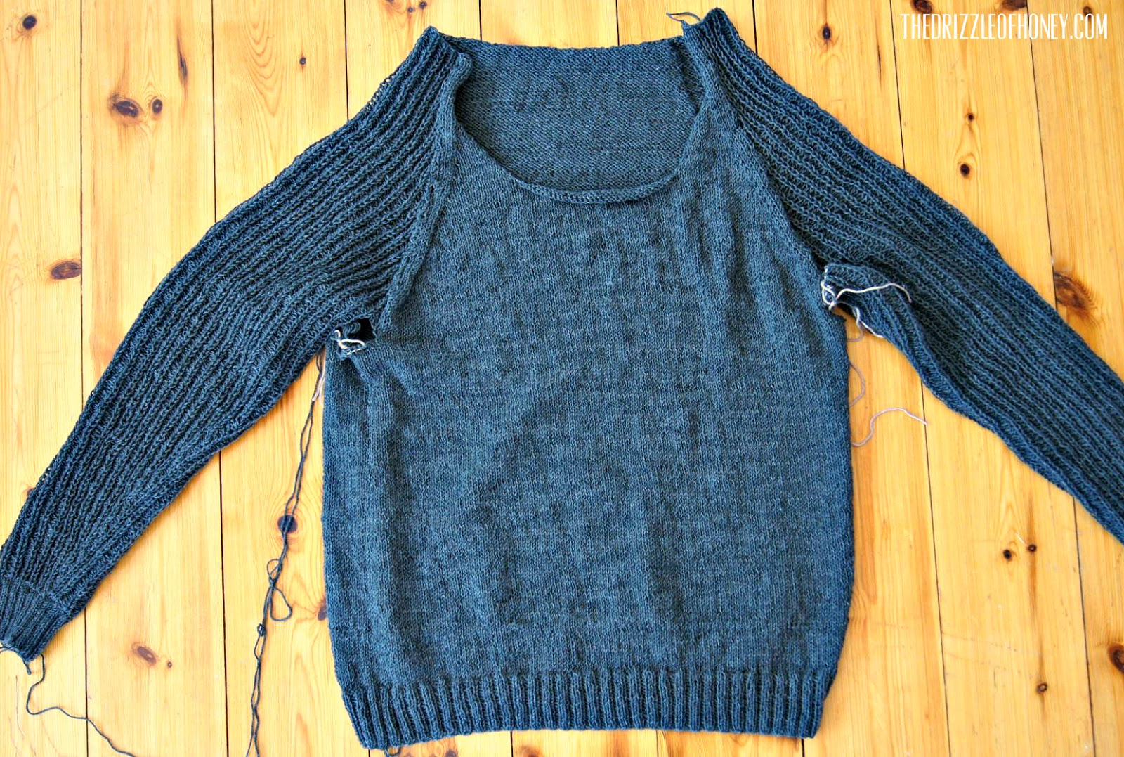Knitting Joining Raglan Seams : The drizzle of honey christmas present wip joining a