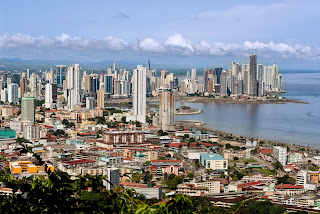 Aerial photo of Panama City.